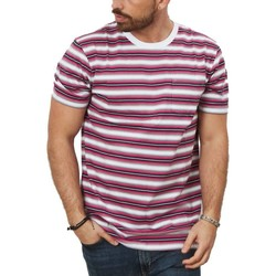 textil Hombre Camisetas manga corta Vans KNOLLWOOD STRIPE Rosa