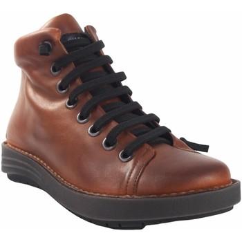 Zapatos Mujer Zapatillas altas Chacal Botín señora  5623 cuero Marrón