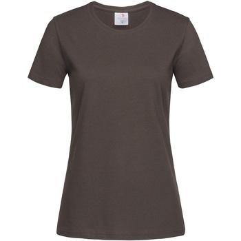 textil Mujer Camisetas manga corta Stedman  Marrón Chocolate Oscuro