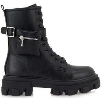 Zapatos Mujer Botas de caña baja Exé Shoes BOTINES MILITAR CON BOLSILLO RG2282 BLACK
