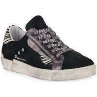 Zapatos Mujer Zapatillas bajas At Go GO 4102 VELOUR NERO Nero