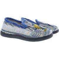 Zapatos Mujer Pantuflas Plumaflex By Roal Zapatillas De Casa Roal 12215 Niña Bosque Azul