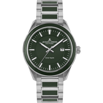 Relojes & Joyas Hombre Relojes analógicos Jacques Lemans 1-2116E, Quartz, 40mm, 10ATM Plata