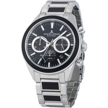 Relojes & Joyas Hombre Relojes analógicos Jacques Lemans 1-2115F, Quartz, 44mm, 10ATM Plata