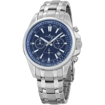 Relojes & Joyas Hombre Relojes analógicos Jacques Lemans 1-2117K, Quartz, 44mm, 20ATM Plata