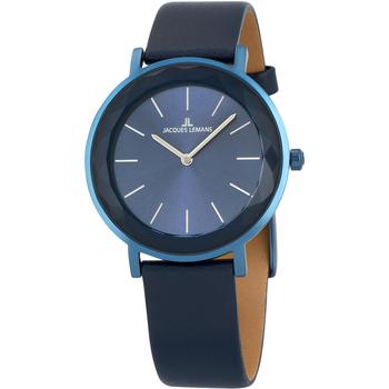 Relojes & Joyas Mujer Relojes analógicos Jacques Lemans 1-2054E, Quartz, 37mm, 5ATM Azul