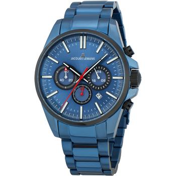 Relojes & Joyas Hombre Relojes analógicos Jacques Lemans 1-2119G, Quartz, 44mm, 10ATM Azul
