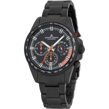 Relojes & Joyas Hombre Relojes analógicos Jacques Lemans 1-2127H, Quartz, 40mm, 10ATM Negro
