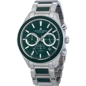 Relojes & Joyas Hombre Relojes analógicos Jacques Lemans 1-2115G, Quartz, 44mm, 10ATM Plata