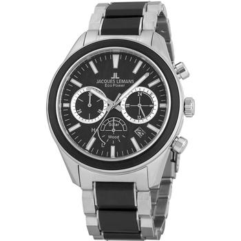 Relojes & Joyas Hombre Relojes analógicos Jacques Lemans 1-2115I, Quartz, 44mm, 10ATM Plata