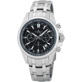Relojes & Joyas Hombre Relojes analógicos Jacques Lemans 1-2117I, Quartz, 44mm, 20ATM Plata