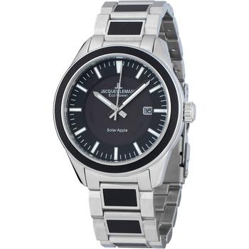 Relojes & Joyas Hombre Relojes analógicos Jacques Lemans 1-2116D, Quartz, 40mm, 10ATM Plata