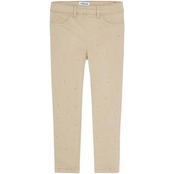 textil Niña Pantalones chinos Mayoral Leggings sarga punto Beige