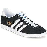 Zapatos Zapatillas bajas adidas Originals GAZELLE OG Negro / Blanco / DORADO