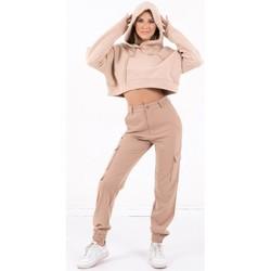 textil Mujer Sudaderas Sixth June Sweatshirt Crop Top femme  Acid Printed beige