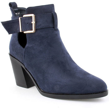 Zapatos Mujer Botines Voga L Ankle boots Texana Azul