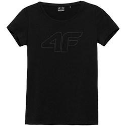 textil Mujer Camisetas manga corta 4F TSD353 Negros