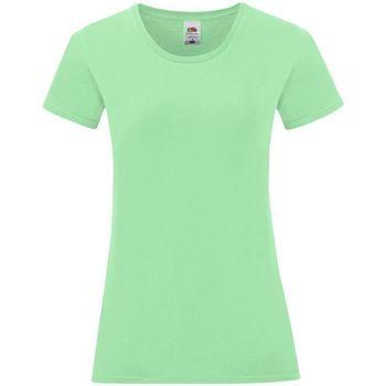 textil Mujer Tops y Camisetas Fruit Of The Loom 61432 Verde