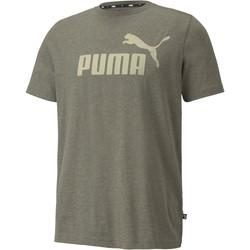 textil Hombre Camisetas manga corta Puma Essentials Heather Gris