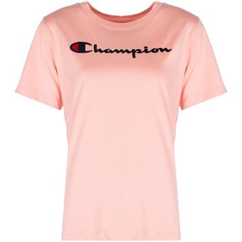 textil Mujer Camisetas manga corta Champion  Rosa