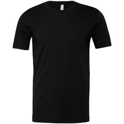 textil Camisetas manga corta Bella + Canvas CVC3001 Negro Jaspeado
