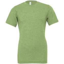 textil Camisetas manga corta Bella + Canvas CVC3001 Verde Jaspeado
