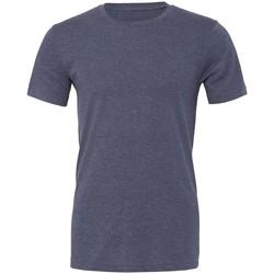 textil Camisetas manga corta Bella + Canvas CVC3001 Azul Marion Jaspeado