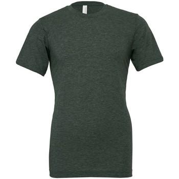 textil Camisetas manga corta Bella + Canvas CVC3001 Verde Bosque Jaspeado