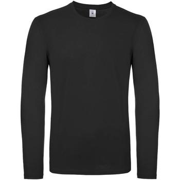 textil Hombre Camisetas manga larga B And C TU05T Negro