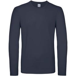textil Hombre Camisetas manga larga B And C TU05T Marino