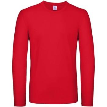 textil Hombre Camisetas manga larga B And C TU05T Rojo