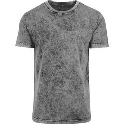 textil Hombre Camisetas manga corta Build Your Brand BY070 Gris/Negro