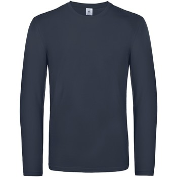 textil Hombre Camisetas manga larga B And C TU07T Azul