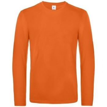 textil Hombre Camisetas manga larga B And C TU07T Naranja