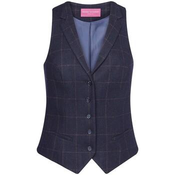 textil Mujer Chaleco de traje Brook Taverner BK521 Cuadros Marinos