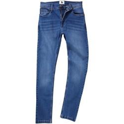 textil Hombre Vaqueros rectos Awdis SD004 Azul