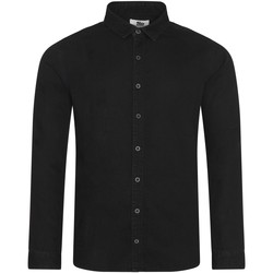 textil Hombre Camisas manga larga Awdis SD040 Negro
