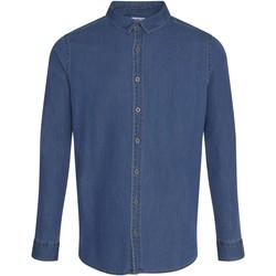 textil Hombre Camisas manga larga Awdis SD040 Azul