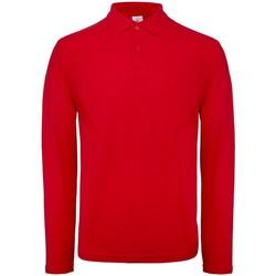 textil Hombre Polos manga larga B And C BA290 Rojo