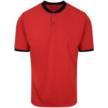 textil Hombre Polos manga corta Awdis JC044 Rojo Fuego/Negro Jet