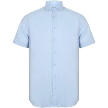 textil Hombre Camisas manga corta Henbury HB537 Azul
