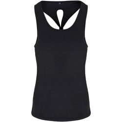 textil Mujer Camisetas sin mangas Tridri TR042 Negro