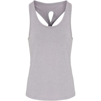 textil Mujer Camisetas sin mangas Tridri TR042 Gris