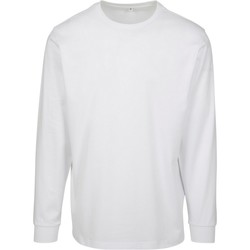textil Hombre Sudaderas Build Your Brand BY091 Blanco