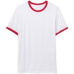 textil Hombre Camisetas manga corta Alternative Apparel AT013 Rojo