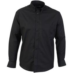 textil Hombre Camisas manga larga Absolute Apparel  Negro