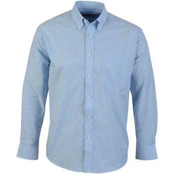 textil Hombre Camisas manga larga Absolute Apparel  Azul claro