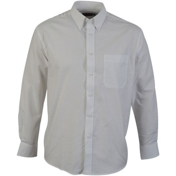 textil Hombre Camisas manga larga Absolute Apparel  Blanco