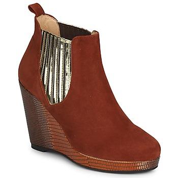 Zapatos Mujer Botines MySuelly LEON Rojizo / Dorado