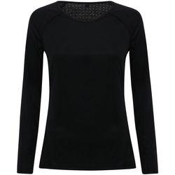 textil Mujer Camisetas manga larga Tridri TR040 Negro